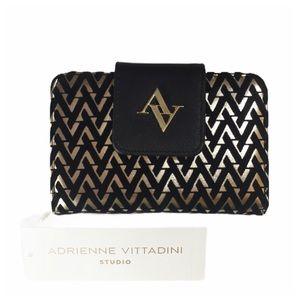 Black & Gold Wallet Adrienne Vitadini🔥1 Left🔥